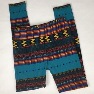 LulaRoe Super Soft Tribal Print Leggings * Onesize